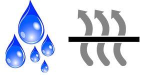 waterproof, diathermanous material